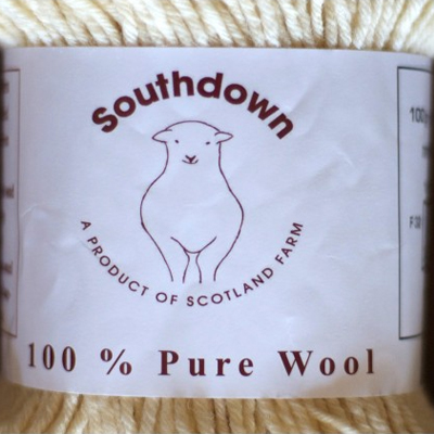 Undyed Home-Grown Southdown Crossbreed Wool